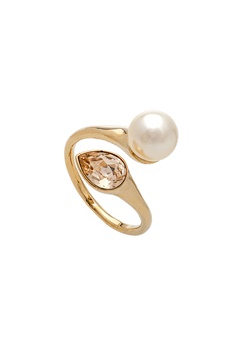 LILY AND ROSE Ella Pearl Ring Ivory Bubbleroom.eu