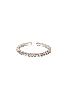 LILY AND ROSE Kennedy Ring Crystal (Silver) Bubbleroom.eu