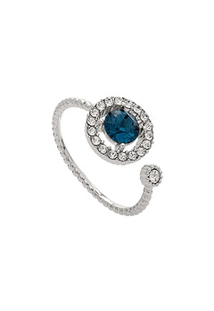LILY AND ROSE Miranda Ring Silver Blue Bubbleroom.eu