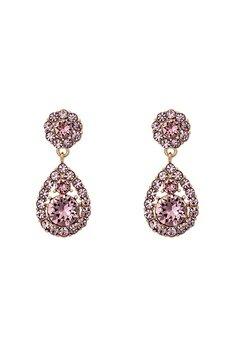 LILY AND ROSE Petite Sofia Earrings Rose Peach Bubbleroom.eu