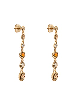 LILY AND ROSE Petite Celeste Earrings Golden Shadow Bubbleroom.eu