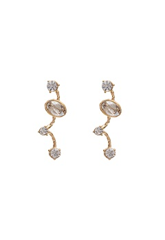 LILY AND ROSE Petite Siri Earrings Crystal/Gold Bubbleroom.eu