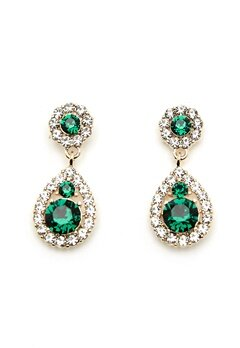 LILY AND ROSE Petite Sofia Earrings Emerald Bubbleroom.eu