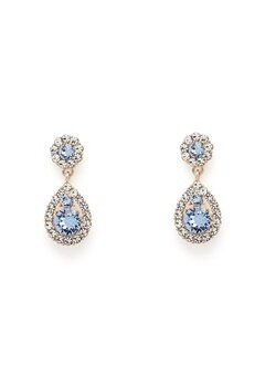 LILY AND ROSE Petite Sofia Earrings Light Sapphire Gold Bubbleroom.eu