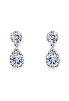 LILY AND ROSE Sofia Earrings Light Sapphire Bubbleroom.eu
