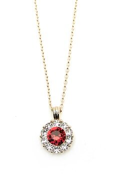 LILY AND ROSE Sofia Necklace Scarlett Red Bubbleroom.eu