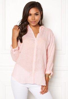 Boomerang Linn Linen Shirt Chalk Pink Bubbleroom.eu