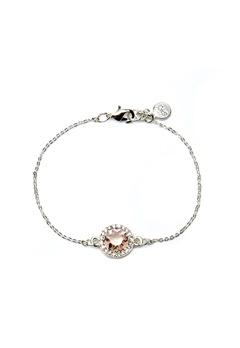 SNÖ of Sweden Lissy Chain Bracelet Silver/Vintage Rose Bubbleroom.eu