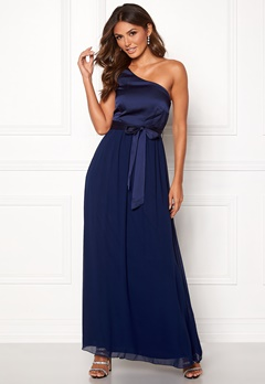 Little Mistress Megan Oneshoulder Dress Navy Bubbleroom.eu