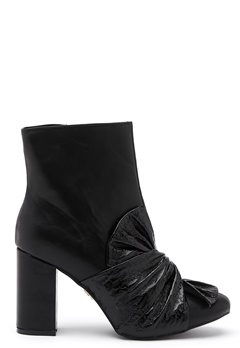 LOST INK Daisy Bow Ankle Boot Black Bubbleroom.eu
