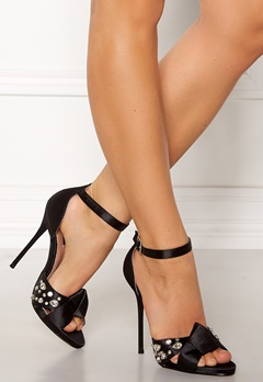 LOST INK Leo Strap Heeled Sandal Black Bubbleroom.eu