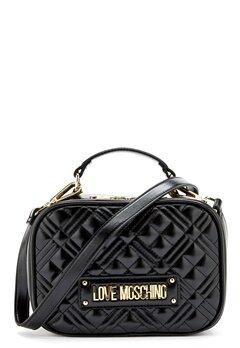 Love Moschino New Shiny Quilted Bag 000 Black Bubbleroom.eu