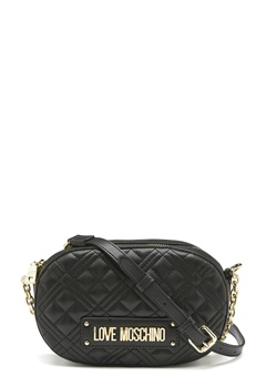 Love Moschino New Shiny Quilted Bag 003 black<br>  Bubbleroom.eu