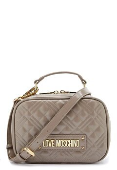 Love Moschino New Shiny Quilted Bag 001 Grey Bubbleroom.eu