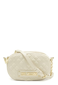 Love Moschino New Shiny Quilted Bag 110 Ivory<br>  Bubbleroom.eu