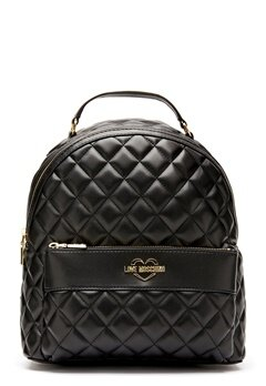 Love Moschino Quilted Backpack Black/Gold Bubbleroom.eu