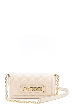 Love Moschino Quilted Chain Bag Ivory Bubbleroom.eu