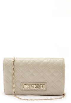 Love Moschino Quilted Evening Bag Ivory Bubbleroom.eu