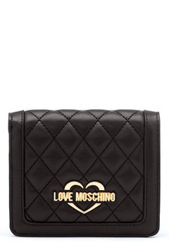 Love Moschino Quilted Wallet Black/Gold Bubbleroom.eu