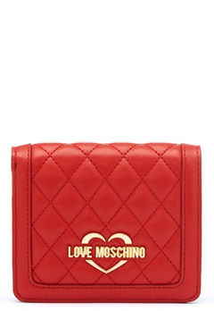 Love Moschino Quilted Wallet Red Bubbleroom.eu