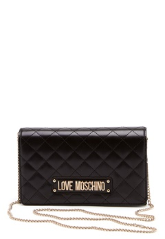 Love Moschino Small Quilted Chain Bag Black Bubbleroom.eu