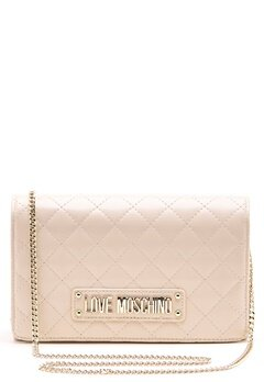 Love Moschino Small Quilted Chain Bag Ivory Bubbleroom.eu