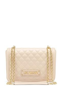 Love Moschino Small Quilted Handbag Ivory Bubbleroom.eu