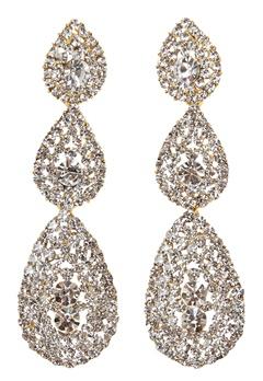 Love Rocks Byzanine Pave Earring Gold Bubbleroom.eu