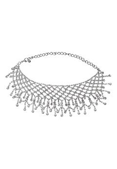 Love Rocks Choker Necklace Silver Bubbleroom.eu
