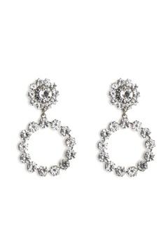 Love Rocks Crystal Ring Drop Earring Silver Bubbleroom.eu