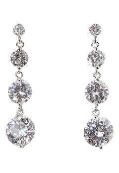 Love Rocks CZ Drop Earrings Silver Bubbleroom.eu