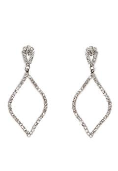 Love Rocks Persian Shape Earring Silver Bubbleroom.eu