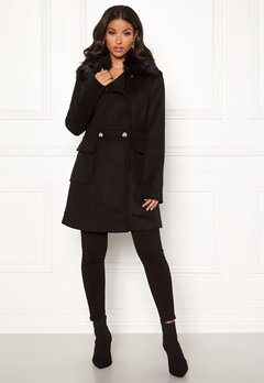 Guess Lucina Coat Jet Black Bubbleroom.eu