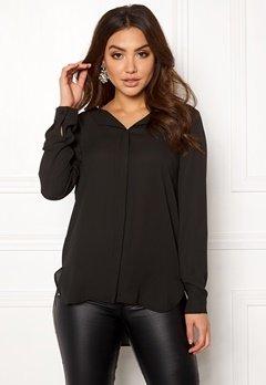 VILA Lucy L/S Shirt Black Bubbleroom.eu