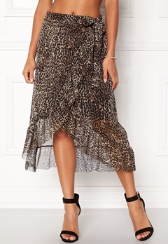 Pieces Lulu Medi Mesh Skirt Black Bubbleroom.eu