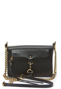 Rebecca Minkoff Mab Flap Crossbody Bag 001 Black/Light Gold Bubbleroom.eu
