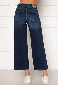 ONLY Madison HI Life Wide Crop Jeans Dark Denim Blue Bubbleroom.eu