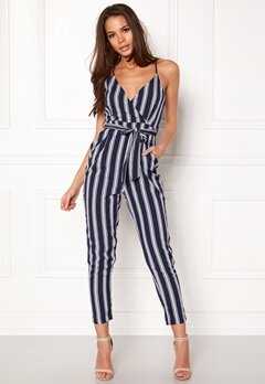 Make Way Aleena jumpsuit White / Blue / Striped Bubbleroom.eu