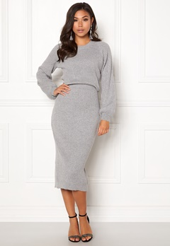 Make Way Amira knitted dress Grey melange Bubbleroom.eu