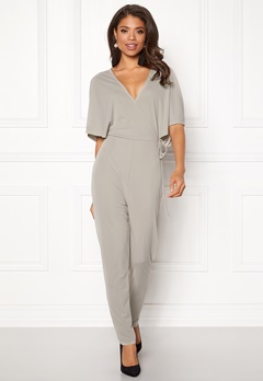 Make Way Ariana jumpsuit Light grey Bubbleroom.eu