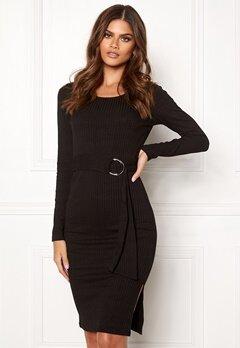 Make Way Camille belted dress Black Bubbleroom.eu