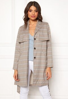 Make Way Cassidy Coat Beige / Checked Bubbleroom.eu