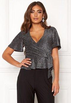 Make Way Dila sparkling top Black / Silver Bubbleroom.eu