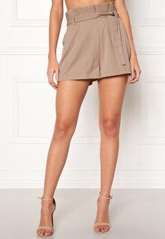Make Way Disa paperbag shorts Beige / White / Striped Bubbleroom.eu