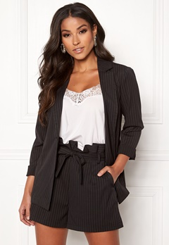 Make Way Disa soft blazer Black / Striped Bubbleroom.eu
