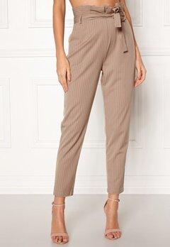 Make Way Disa trousers Beige / White / Striped Bubbleroom.eu