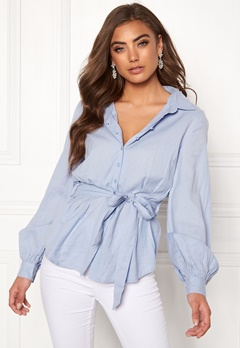 Make Way Donna blouse Light blue Bubbleroom.eu