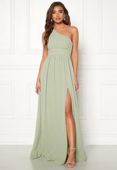 Make Way Ellamae one shoulder gown Dusty green Bubbleroom.eu