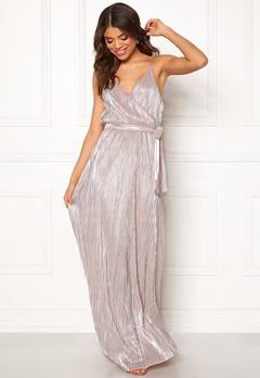 Make Way Elsa pleated lurex dress Pink / Silver Bubbleroom.eu