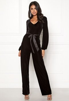 Make Way Farah velvet jumpsuit Black Bubbleroom.eu